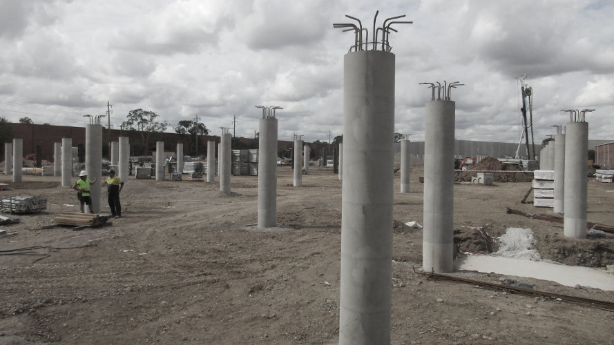 Bunnings Smithfield with Geotub Round Column Formwork