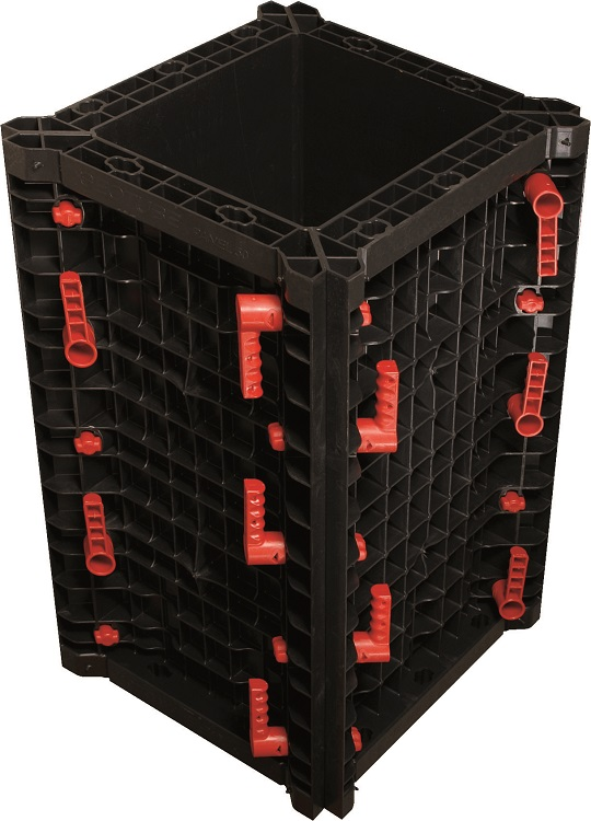 Geotub Panel Reusable Plastic Formwork for Square Columns
